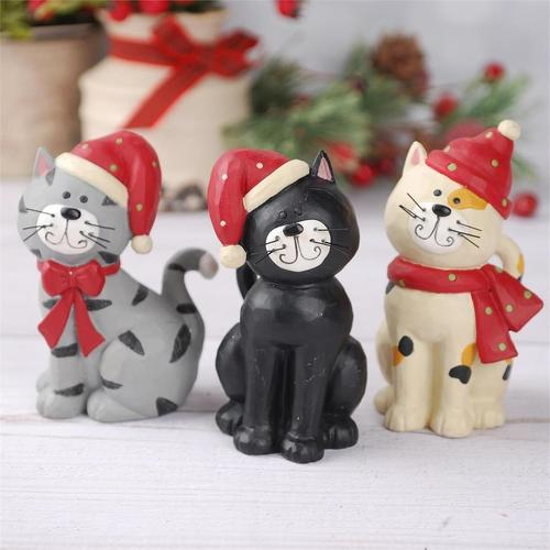 Cats in Scarves and Hats Figurine