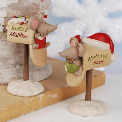 Mailboxes with Mice Figurine