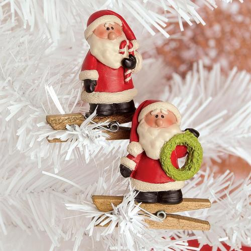Santa Clip Ornament