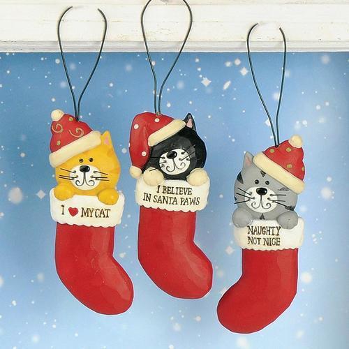 Cat in Stockings Ornament
