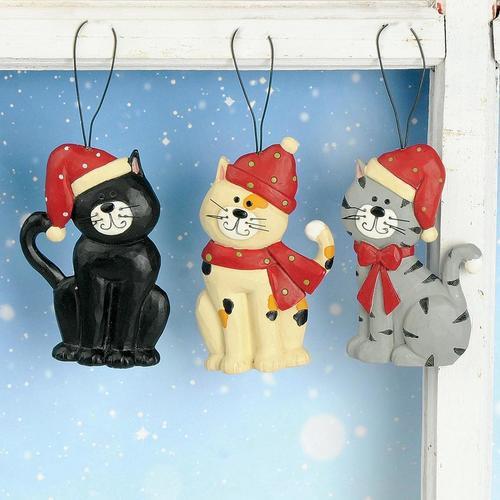 Cat in Stocking Cap Ornament
