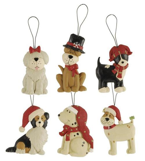 Dog in Holiday Hat Ornament