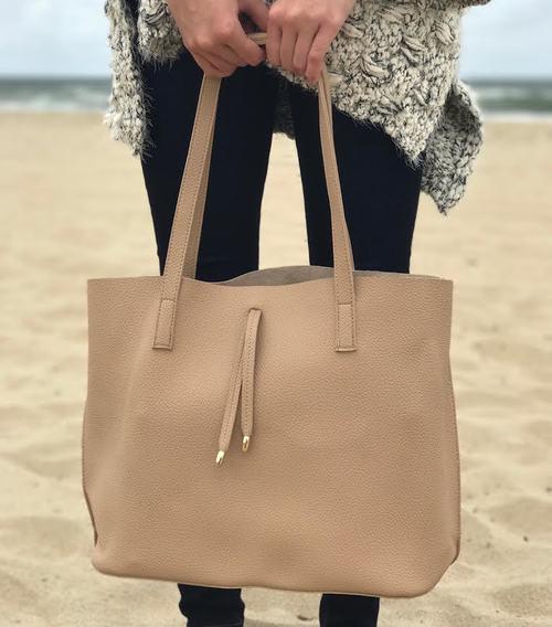 Beige Tote Bag