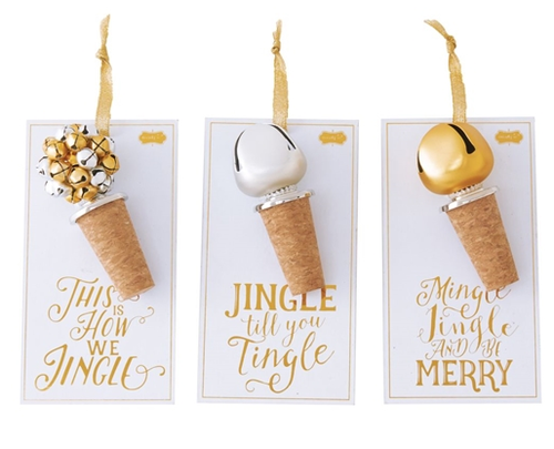 Jingle Bell Bottle Toppers