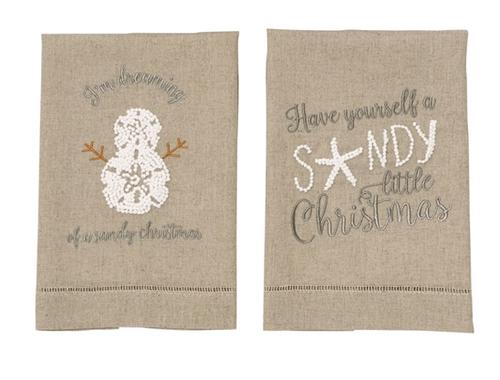 Sea Christmas Tea Towel
