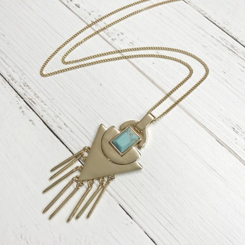Turquoise Arrow Pendant Necklace