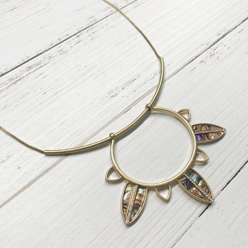Abalone Hollow Burst Necklace