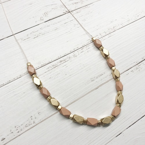 Wood Bead Long Necklace