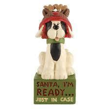 Santa I'm Ready Block Figurine