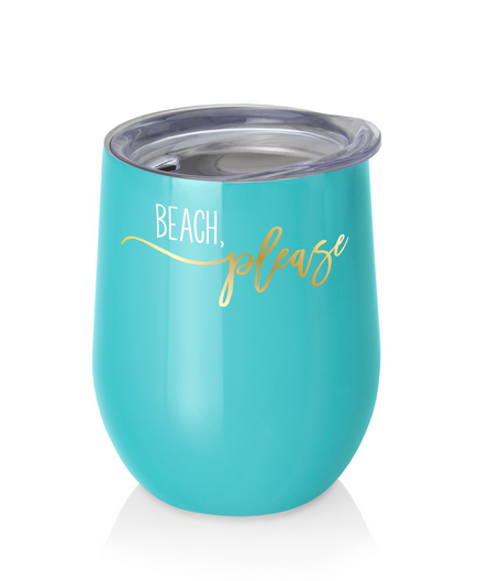 Beach Please Swig Wine Cup- 9oz