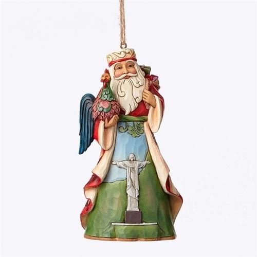 Brazilian Santa Ornament