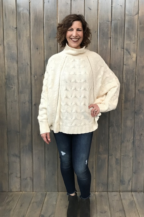 Double Zipper Pullover Sweater