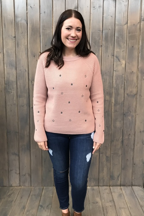 Emboidered Star Sweater