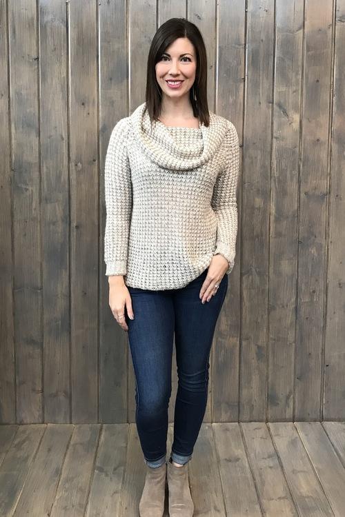 Tegan Basket Weave Sweater