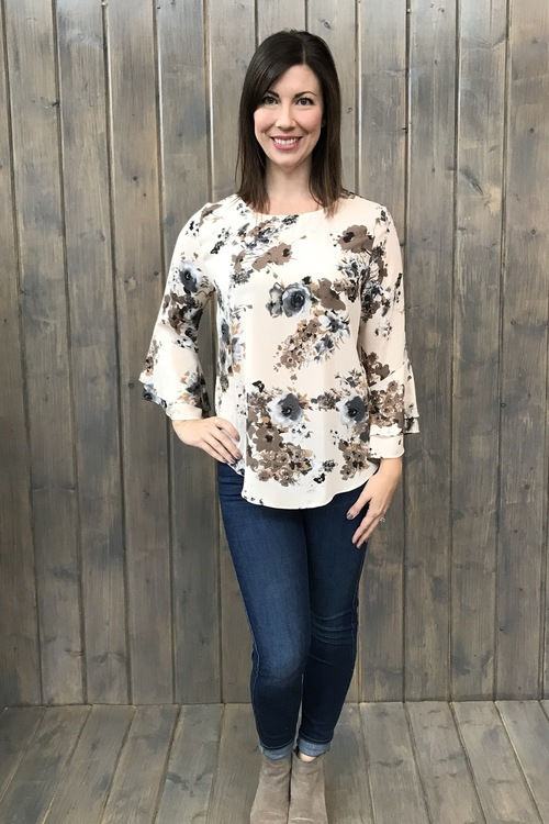 Claire Double Flare Sleeve Blouse
