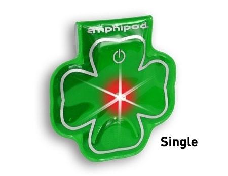 Vizlet LED Reflector - Shamrocks (Green)