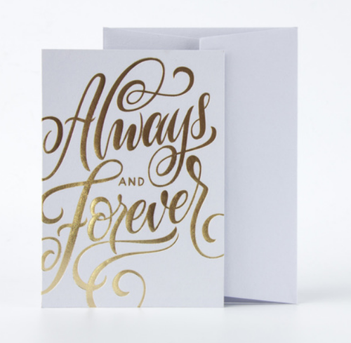 Always And Forever Card- Grey
