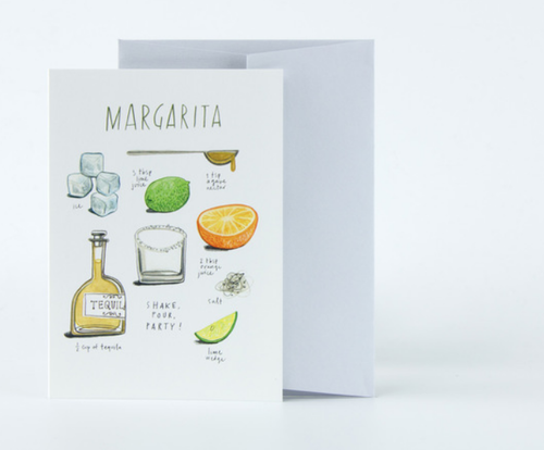 Margarita Time A Recipe For Love Card