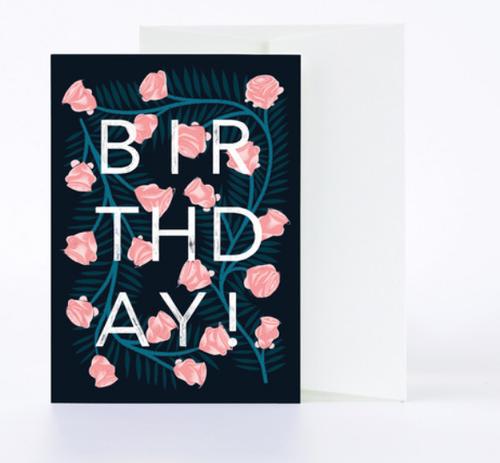 Birthday Florals Card