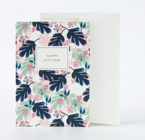 Happy Birthday Botanicals Card