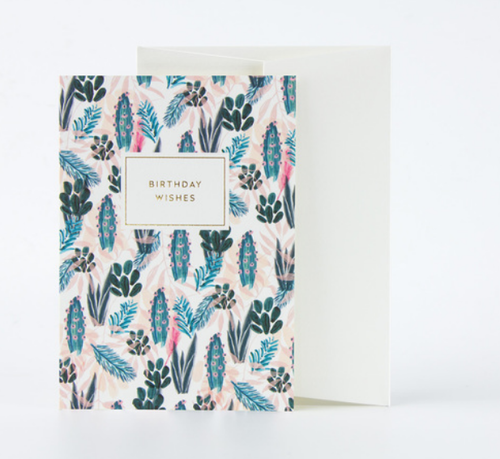 Birthday Wishes Botanicals Card