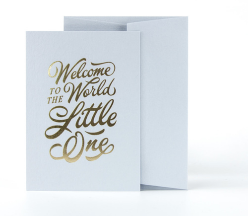 Welcome To The World Little One Card- Blue