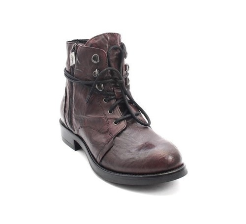 Antique Burgundy Leather Lace-Up / Zip-Up / Ankle Boots