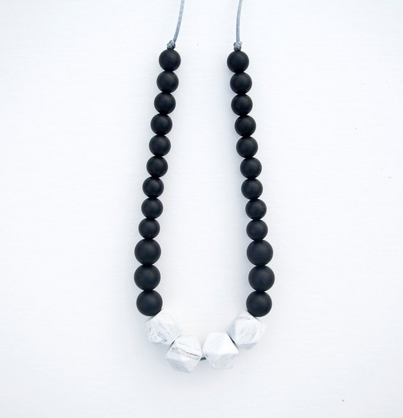 Marble Statement Necklace Black