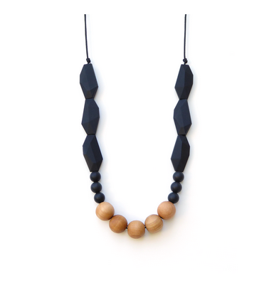 Joan Wood & Silicone Necklace Black