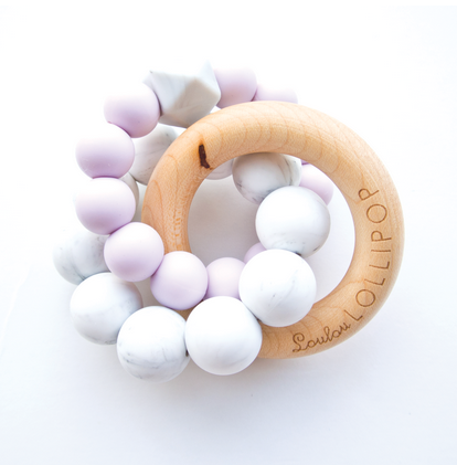 Trinity Wood & Silicone Teether Lilac