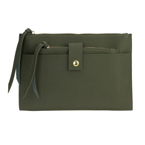 Two In One Zip Top Clutch