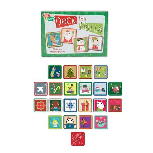 Deck The Halls Christmas Memory Game