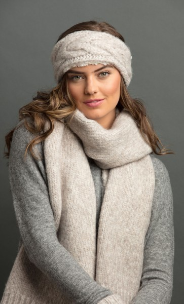 Brushed Wool Scarf Truffle
