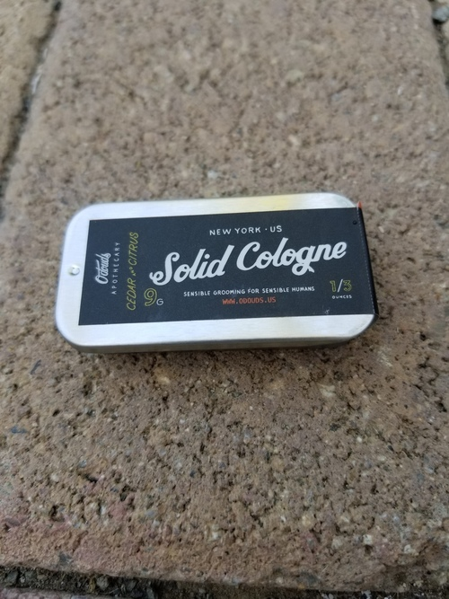 Odouds Solid Cologne Cedar And Citrus