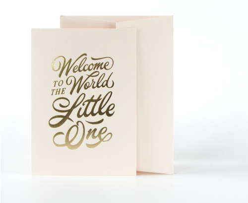 Welcome To The World Little One Card- Pink