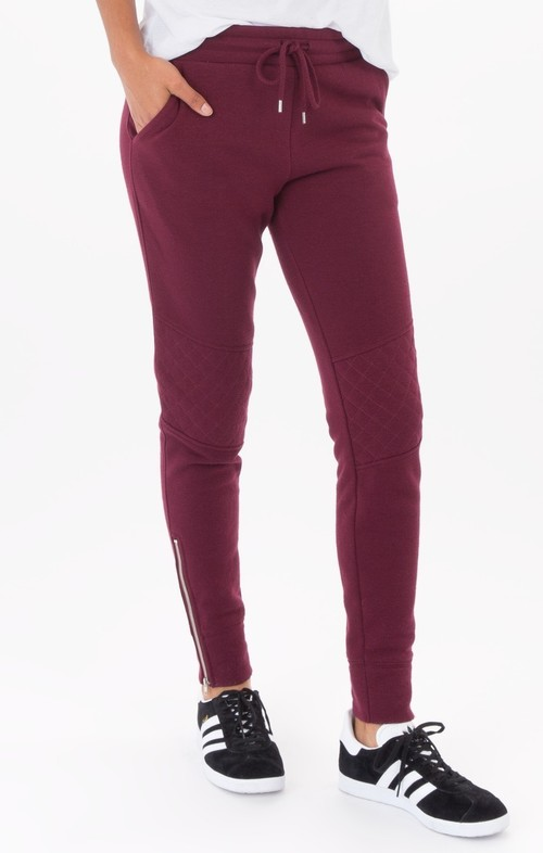 Dark Wine Loft Zip Jogger