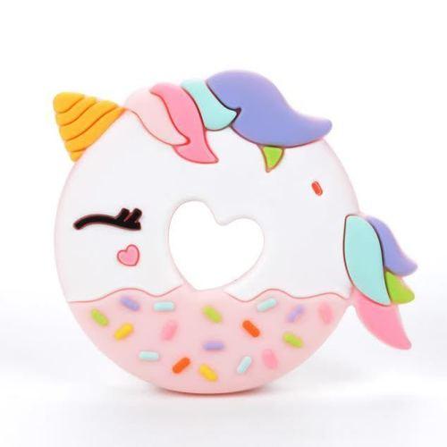 Unicorn Donut Teether Pink