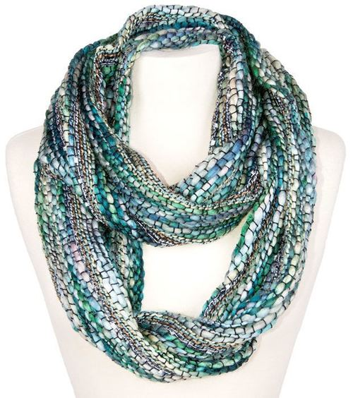Eco Chunky Loose Knit Infinity Scarf By Rising Tide