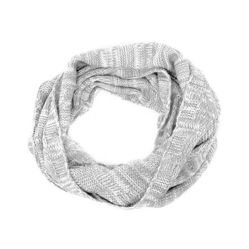 Cable Knit Infinity Scarf Gray