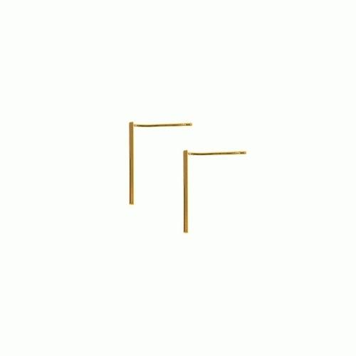 Gold Stick Post Earrings