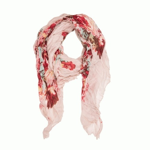 Ivory Crinkle Classy Scarf