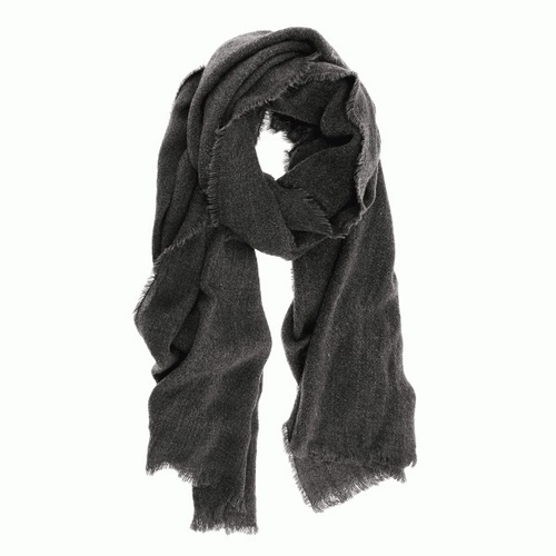 Heathered Eyelash Scarf Charcoal
