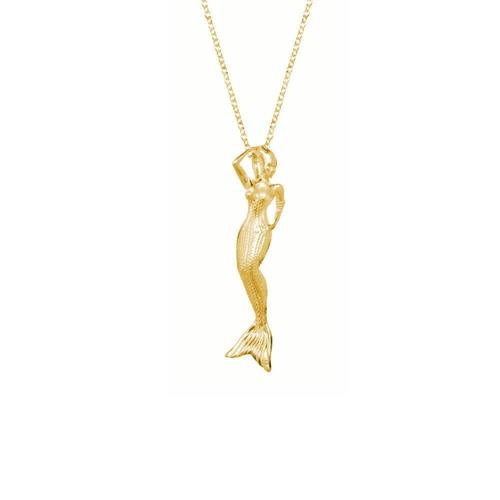 Long Vermeil Mermaid Pendant