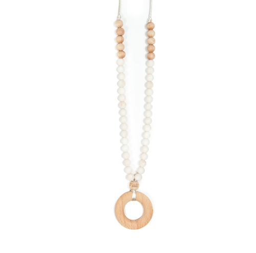 Natural Marble Ring Teething Necklace