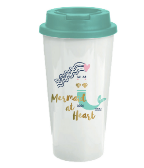Mermaid at Heart Travel Tumbler
