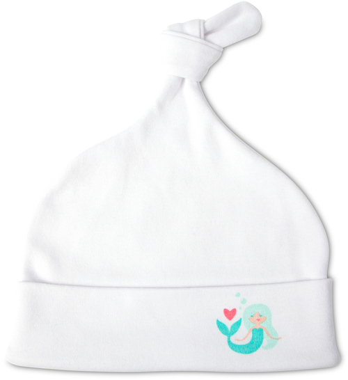 Mermaid Heart Baby Beanie Hat 0-3 Months