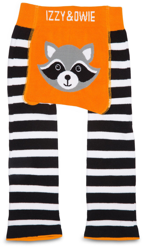 Orange Raccoon Leggings