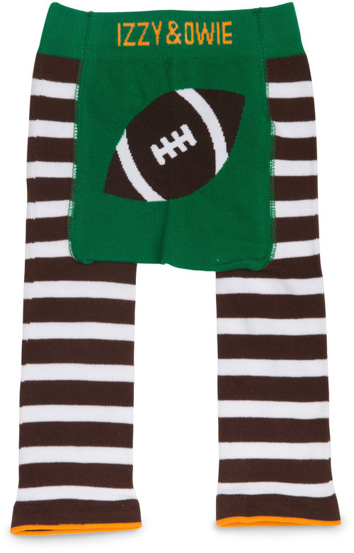 Green and Brown Football Leggings