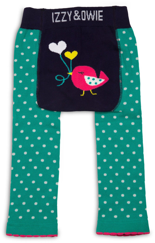 Aqua and Navy Birdie Leggings