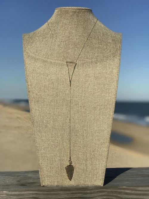 Arrow Head Triangle Necklace 14K Vermeil